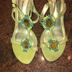 A. Marinelli Green High Heel Sandals Size 8